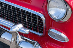 Vintage automobile details. Details of a pristine classic automobile Royalty Free Stock Image