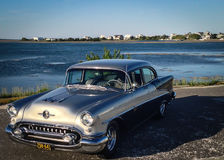 Vintage Automobile by the Sea Royalty Free Stock Photo