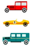 Vintage automobile set. Royalty Free Stock Photo