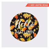 Vintage Autumn Floral Graphic Design - pour la carte, T-shirt, mode Photo libre de droits