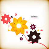 Vintage autumn flowers nature abstract background Stock Photography