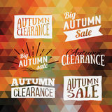 Vintage autumn geometric clearance banner. Stock Images