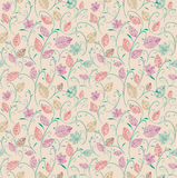 Vintage autumn leaves seamless pattern background. Stock Photography