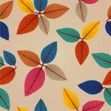 Vintage autumn leaves seamless pattern background. Stock Photos