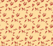 Vintage autumn leaves seamless pattern Stock Photography