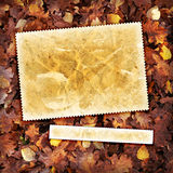 Vintage autumn textured background. Vintage autumn background with canvas texture Royalty Free Stock Photos