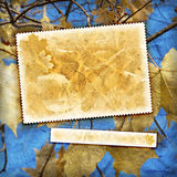Vintage autumn textured background. Vintage autumn background with canvas texture Stock Photography