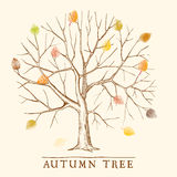 Vintage autumn tree Stock Image