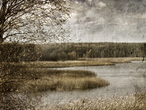 Vintage autumnal landscape Royalty Free Stock Photo