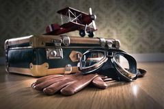 Vintage aviator equipment Royalty Free Stock Photo