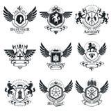 Vintage award designs, vintage heraldic Coat of Arms. Vector emb Royalty Free Stock Photography