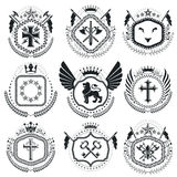 Vintage award designs, vintage heraldic Coat of Arms. Vector emb Stock Photo