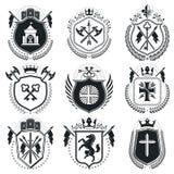 Vintage award designs, vintage heraldic Coat of Arms.. Vector emblems. Vintage design elements collection Stock Photo