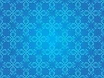 Vintage azul Art Vector Seamless Pattern Background del corazón Fotografía de archivo