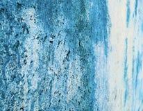 Vintage azul da perspectiva da cor do mar instável exterior vibrante de Colorfull Imagens de Stock