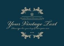 Vintage azul teste padrão pontilhado do fundo Imagens de Stock Royalty Free