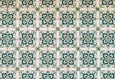 Vintage azulejos, traditional Portuguese tiles.  stock photo