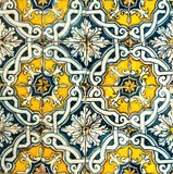 Vintage azulejos, traditional Portuguese tiles Stock Photography