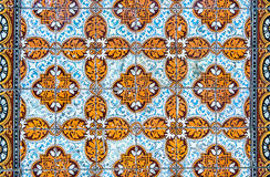 Vintage azulejos, traditional Portuguese tiles Stock Image