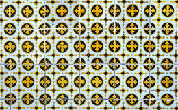 Vintage azulejos, traditional Portuguese tiles Stock Images