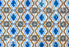 Vintage azulejos, traditional Portuguese tiles Royalty Free Stock Photo