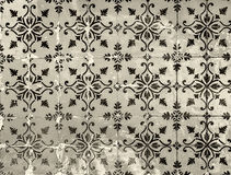 Vintage azulejos, traditional Portuguese tiles Royalty Free Stock Photography