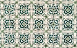 Vintage azulejos, traditional Portuguese tiles.  Stock Photography