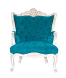 Vintage azure armchair classical Stock Photo