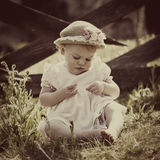 Vintage Baby Royalty Free Stock Photo