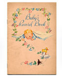 Vintage Baby Book. A vintage sixty-eight year old baby book cover Stock Images