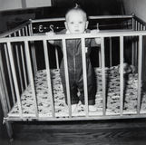 Vintage Baby Boy Picture, Child Stock Photo