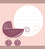 Vintage baby card Stock Photos