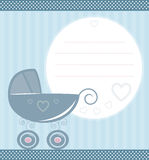 Vintage baby card Stock Images