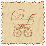 Vintage baby carriage. Vintage baby carriage for girls and boys. Vector illustration eps.10 Royalty Free Stock Photography