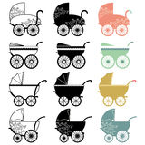 Vintage Baby Carriage. A Vector Illustration of Vintage Baby Carriage Stock Photo