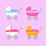Vintage Baby Carriages Stock Images