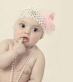 Vintage baby Royalty Free Stock Photos