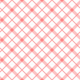 Vintage baby pink seamless pattern with simple geometric shapes. Check background made of lines. Endless vector texture for wallpaper, wrapping paper Stock Photo