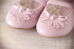 Vintage baby shoes Royalty Free Stock Image