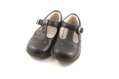 Vintage baby shoes Royalty Free Stock Photos