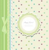 Vintage baby shower album vector Royalty Free Stock Images