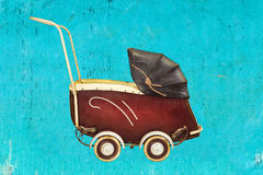Vintage baby stroller Royalty Free Stock Photos