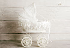 Vintage baby stroller Royalty Free Stock Photography