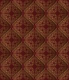 Pattern. Vintage bacground with golden ornament, seamless pattern Royalty Free Stock Photography