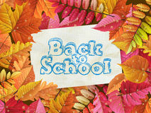 Vintage back to school card. EPS 10 Stock Images