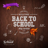 Vintage back to school card. Royalty Free Stock Image