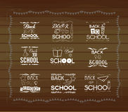 Vintage back to school card. Wooden, typography Royalty Free Stock Images