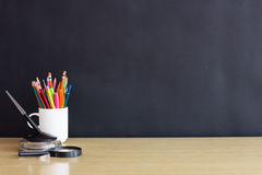 Vintage back to school concept Royalty Free Stock Photos
