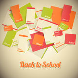 Vintage Back to School Design Stock Image