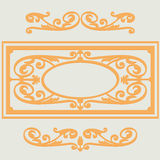 Vintage backgroun pattern, swirling decorative elements Royalty Free Stock Images
